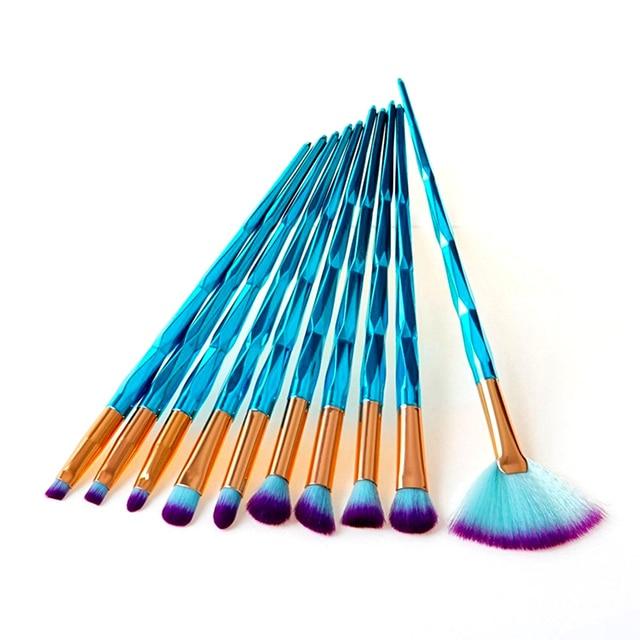 1Set Professional Diamond Unicorn Makeup Brushes Facial Foundation Eyeshadow Contour Lip Powder Cosmetic Makeup Brushes Kit Makeup Brushes