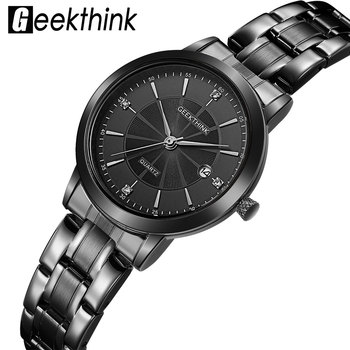 Black Stainless Steel Ladies Wrist Watch