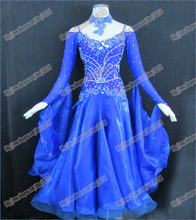 Modern Waltz Tango Ballroom Dance Dress, Smooth Ballroom Dress,Standard Ballroom Dress Girls B-0135