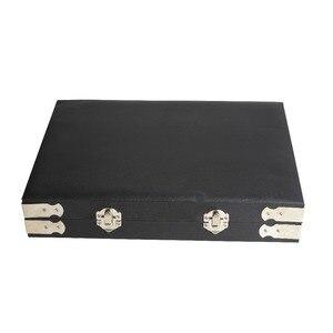 Image 5 - Yüksek kaliteli siyah deri taş seyahat kutusu elmas saklama kutusu takı tutucu 2.8cm 70 adet, 4cm 48 adet içinde mücevher kutusu taşınabilir