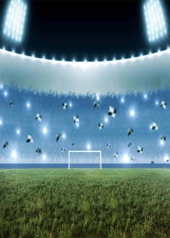 Magic soccer field vinyl photography backdrops football match photo background for photo studio photographic background S-1169
