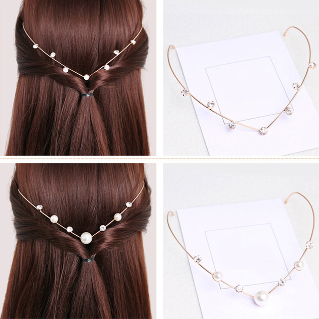Alloy Hairbands Pearl Headwear Girls Lovely Hair Band Hair Accessories