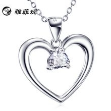 цена на S925 pure silver heart pendant bursting with zircon necklace speed sell like hot cakes sell goods manufacturers selling