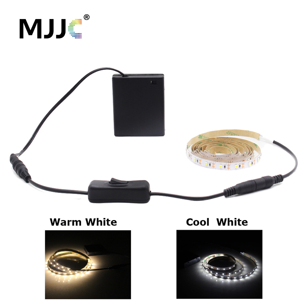 LED Tape Battery Operated 1M 2M LED Light Strip Battery Powered USB DC Tira LED Strip Light Adhesive SMD3528 Stripe Waterproof