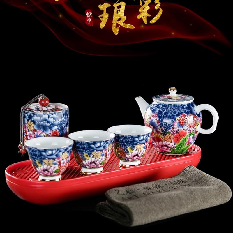 Ensemble de thé chinois kungfu ensemble de thé portable ensemble de thé chinois kungfu cérémonie ensemble de thé porcelaine chine