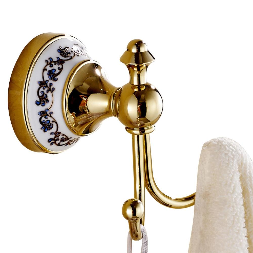 Leyden Brass And Creamic Gold Modern Wall Mounted Bathroom