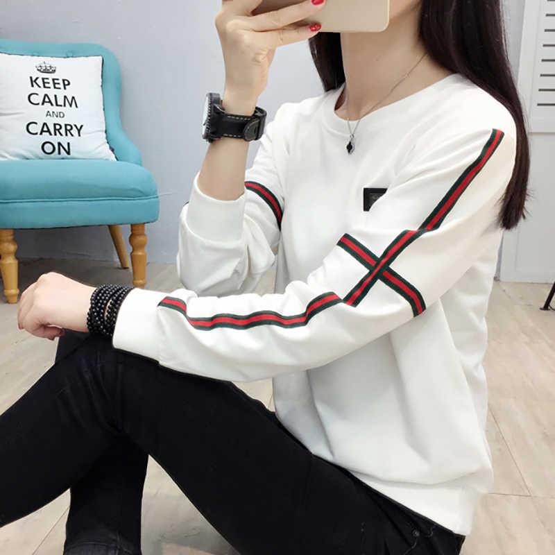 Shintimes Blusas Mujer De Moda 2018 полосатый Для женщин s Топы и блузки с длинным рукавом плюс Размеры Для женщин блузка белая рубашка сорочка Femme