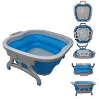 Big Foot Tub Foldable Feet Soak Basin Folding Pedicure Massage Soaking Foot Bath Hot Spa Bathroom Plastic Rubber Bucket Large