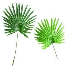 12 шт. латексный Fabirc искусственный пальмовый кокосовый лист Frond филиал художественный растительный Дерево Свадебный домашний декор, зеленый