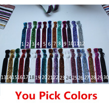 купить Super fashion! Glitter Hair ties  Glitter elastic  Headbands Hair band Hair rope  Wrist strap  Mix colors Free shipping по цене 1010.06 рублей
