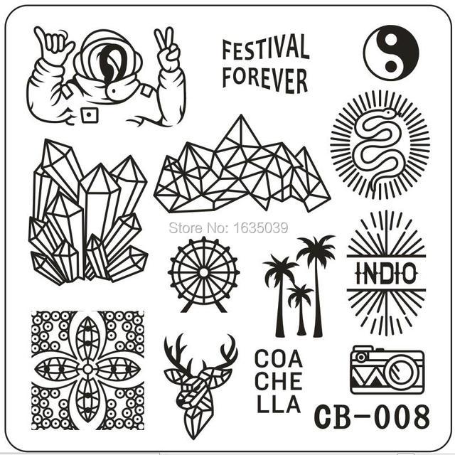 Neue Designs Nail art Stempel nagel Schönheit Nagel Vorlage WERKZEUGE Nagel Disk dia 6 cm * 6 cm CB serie