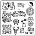 Nuevos Diseños Nail Art Sello Plantilla Placa de la Imagen del Clavo de la Belleza HERRAMIENTAS de Uñas Disco dia 6 cm * 6 cm serie CB