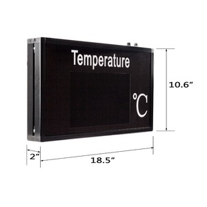 Image 4 - Thermometer industrial Temperature display large screen high precision LED display for Factory workshop lab warehous greenhouse