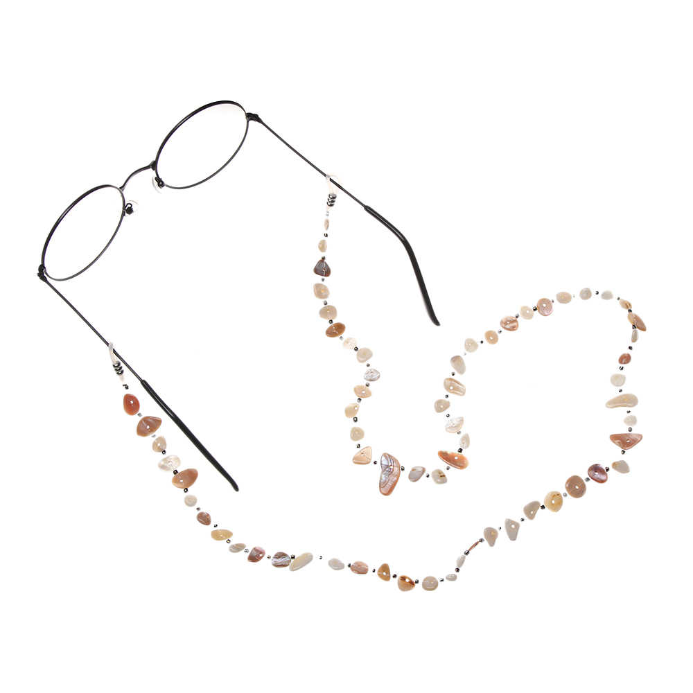 ファッションシェルタッセルチャームクリスタルチェーンゴールド老眼鏡眼鏡サングラス眼鏡チェーンネックコードストラップロープ眼鏡