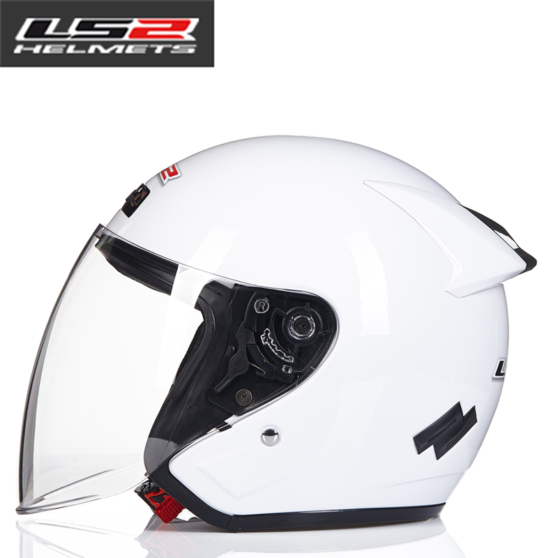 LS2 Global Store LS2 OF508 half helmet motorcycle helmet men and women half-covered autumn helmet free shipping genuine sports car limited edition motorcycle helmet full helmet ls2 motorcycle oem red and white illusion