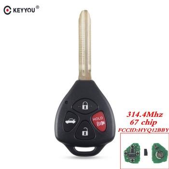 Chiave Telecomando per Toyota Camry Avalon Corolla Matrix RAV4 Venza Yari 4 Tasti HyQ12BBY 314.4 Mhz ID 67