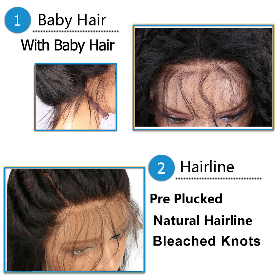 Image 4 - Blue Color Lace Front Wigs With Baby Hair Long Body Wave Brazilian Remy Human Hair Wigs Pre Plucked Hairline 13*6 Frontal Wig-in Human Hair Lace Wigs from Hair Extensions & Wigs