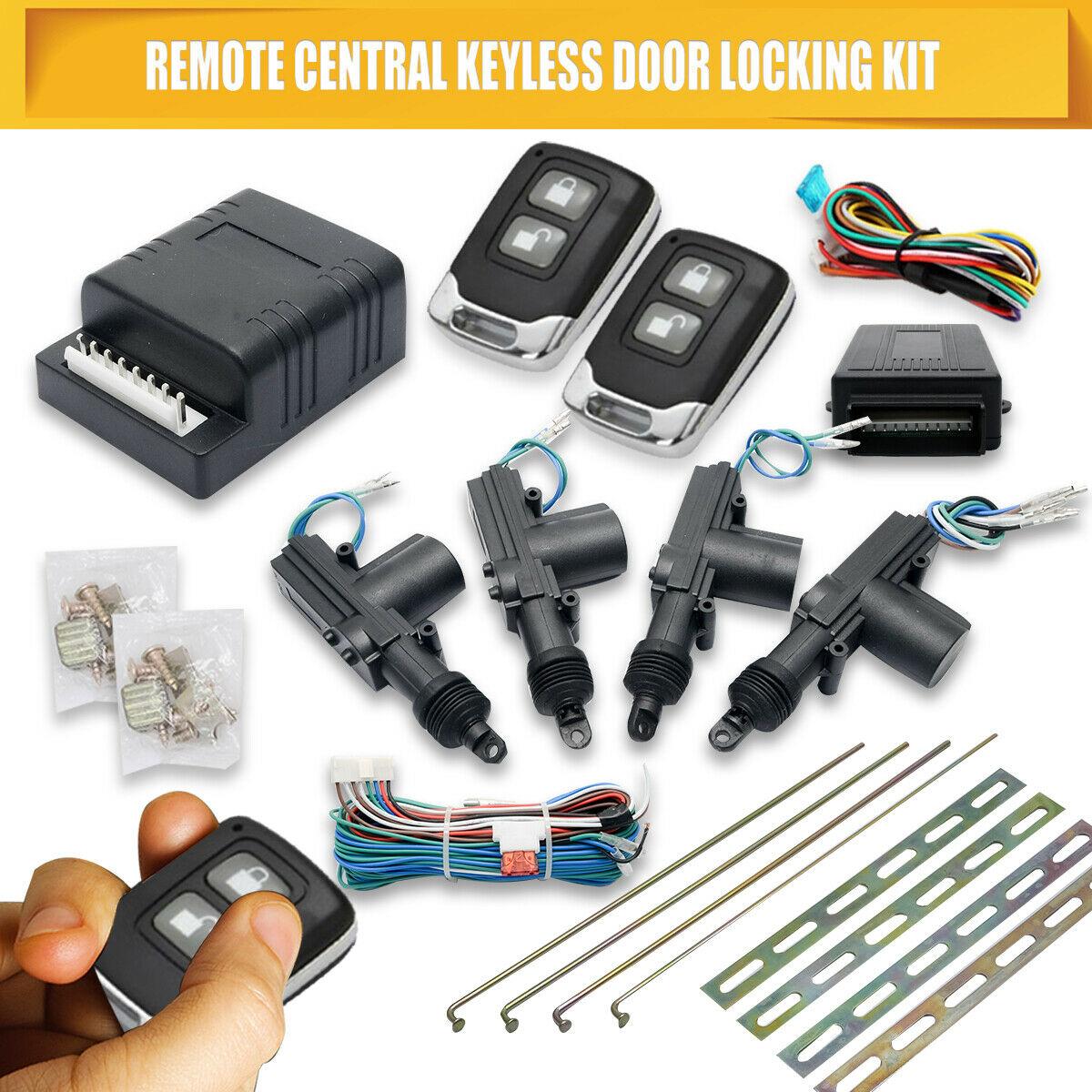 Actionneur de serrure centrale de voiture 4 portes système de verrouillage automatique sans clé Kit à distance