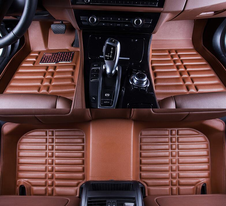 car styling case for Peugeot 2008 2014 2015 2016 Good! Custom special floor mats for 5seats waterproof carpets car styling
