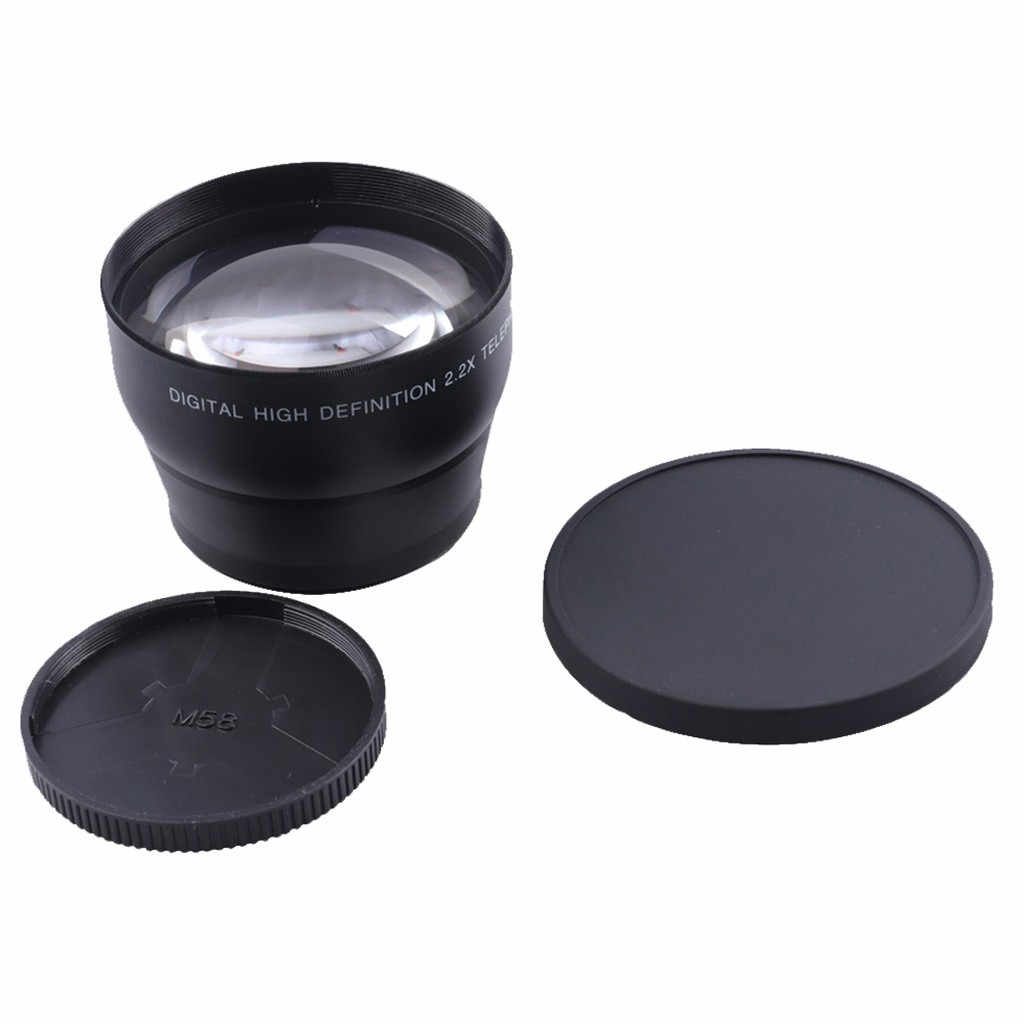Professional HD 58MM 2.2X Telephoto Lens For 58MM Digital SLR Camera Lens widening len Teleconverter telephoto conversion mirror