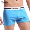 Taddlee marca sexy men underwear boxer shorts de algodón para hombre boxers underwear gay pene bolsa diseñado cintura troncos de alta calidad