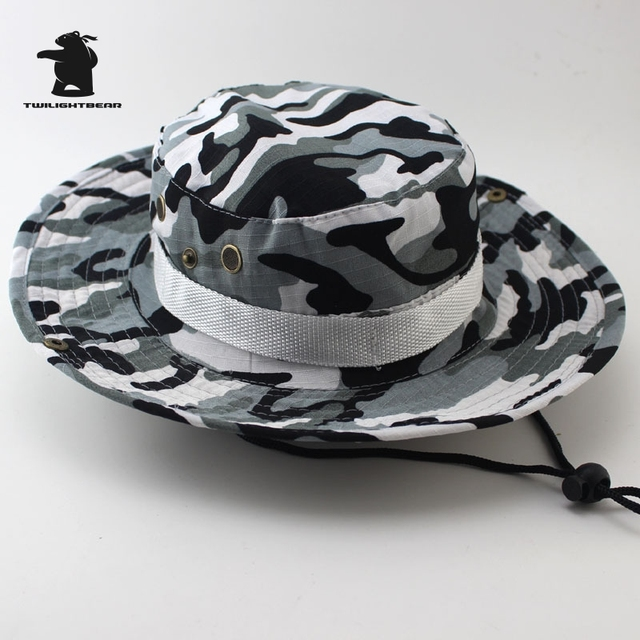 MULTICAM HAT ARMY BOONIE HAT 26 Colors Military Camouflage Bucket Hats Hunting Hiking Fishing Climbing Cap AF23 3