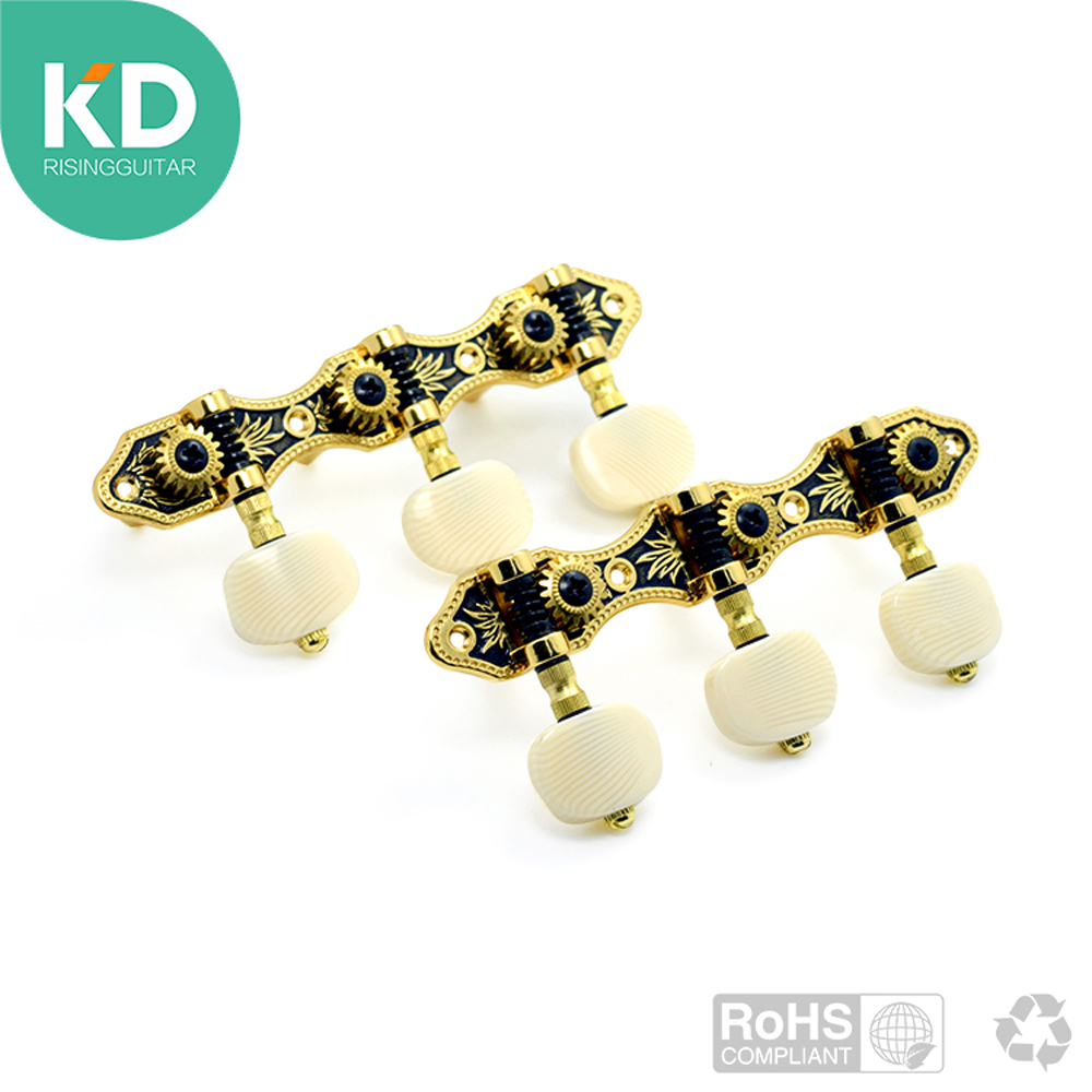 KD Classical Guitar Tuning Pegs Machine Heads 1 Pair Left And Right Guitar Peg Tuner Parts Accessories