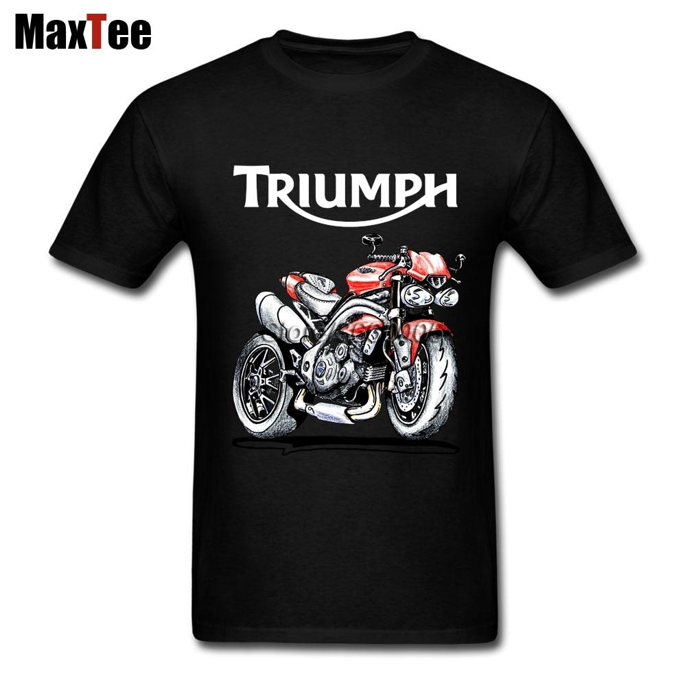 Speed Triple 1050 Triumph Motorcycle Tee Shirt Men Boy Online Designer White Short Sleeve Custom Plus Size Couple Camiseta