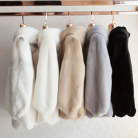 Real Mink fur coat whole skin ladies short section warm fur jacket 2018 new hooded