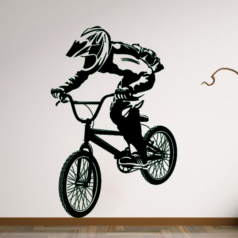 Zn A046 Bmx Bike Bicycle Biker Boys Wall Decal Art Decor Sticker