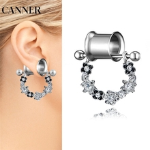 CANNER Surgical Steel Tribal Brass Mandala Flower Earrings Ear Tunnel Weights Expander Ear Stretcher Piercing Expansion R4 цена