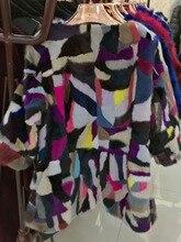 Popular Luxury Natural Mink Fur Short Women Coat Real Patchwork Mink Fur Overcoat Genuine Lady Elegent Short Contrast Jacket