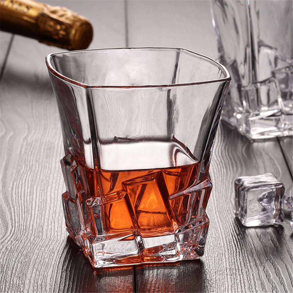 Iceberg Shape Whiskey Glass Lead-free Ultra Clear Like Crystal Beer Scotch Whisky Liquor Drinkware Home Bar Party Wedding Glass