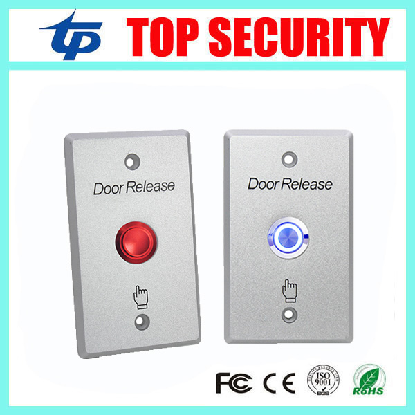10pcs A Lot Door Access Control Exit Button Door Release Exit Switch Good Quality Zinc Alloy Push Release Button With Led Light lpsecurity stainless steel door access control led backlit led illuminated push button door lock release exit button switch