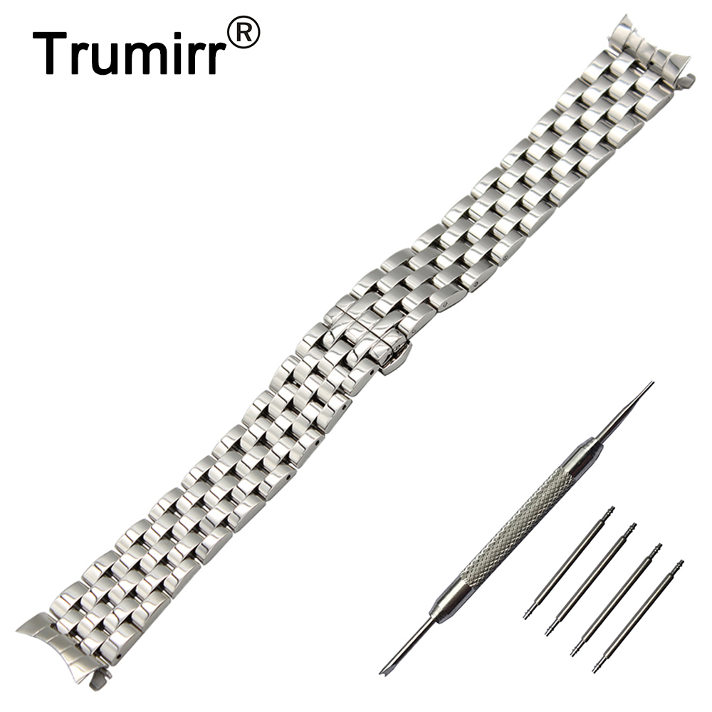 20mm 22mm Stainless Steel Watch Band Curved End Strap + Tool for IWC Watchband Butterfly Buckle Belt Replacement Wrist Bracelet 20mm 22mm stainless steel watch band curved end strap tool for iwc watchband butterfly buckle belt replacement wrist bracelet