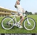 21 MTB velocidad de la bicicleta de montaña marco de acero bicicleta de montaña frenos de disco delanteros y traseros