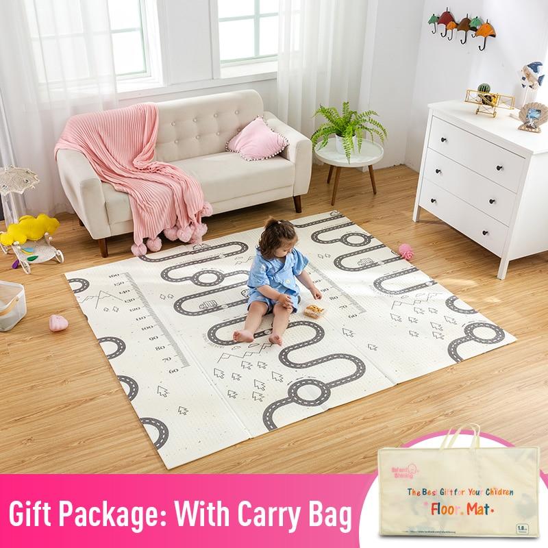 Infantile brillant 180*200cm enfants jouer tapis de jeu Cotoon tapis tapis tapis coton ramper couverture tapis de sol pour bébé cadeau - 2