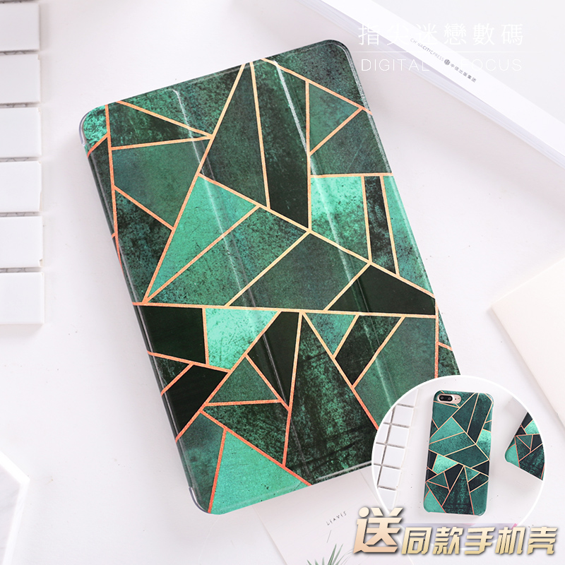 For New iPad 9.7 2017 Green Diamond Flip Cover For iPad Pro 9.7 Air Air2 Mini 1 2 3 4 Tablet Case Cover Protective Shell Bag