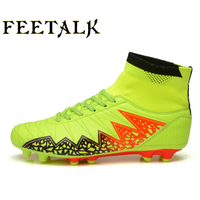 Size 38 44 High Ankle Turf Futsal Boots 2017 Top Superfly Soccer Shoes Men Cheap Original