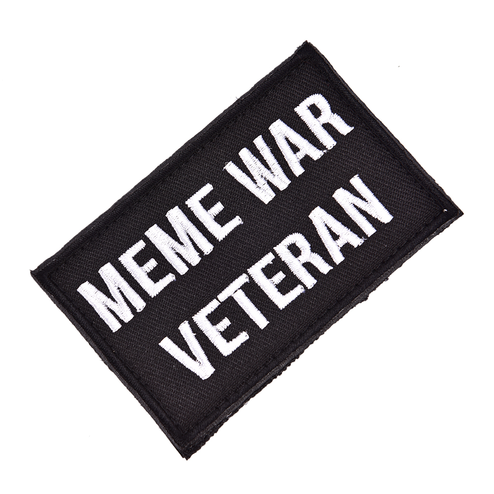 Tactical Embroidered <font><b>Meme</b></font> War Patch Veteran Morale Emblem Badges Applique Patches For Clothes Jackets Jeans Accessories image