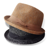 Spring And Autumn Fashion Unisex Casual Models Fedora Hat For Women Men Crimping Brim Jazz Caps