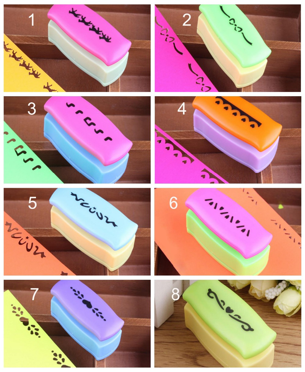 14 Designs Creative Diy Craft Punch Embossing Border Paper Punch For
