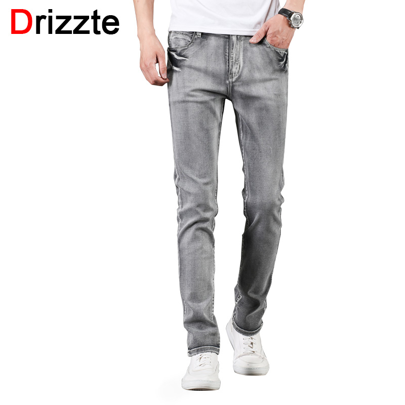 Drizzte Chinos Stretch Pants Casual Slim Fit Slacks Trousers Men Elastic Waist