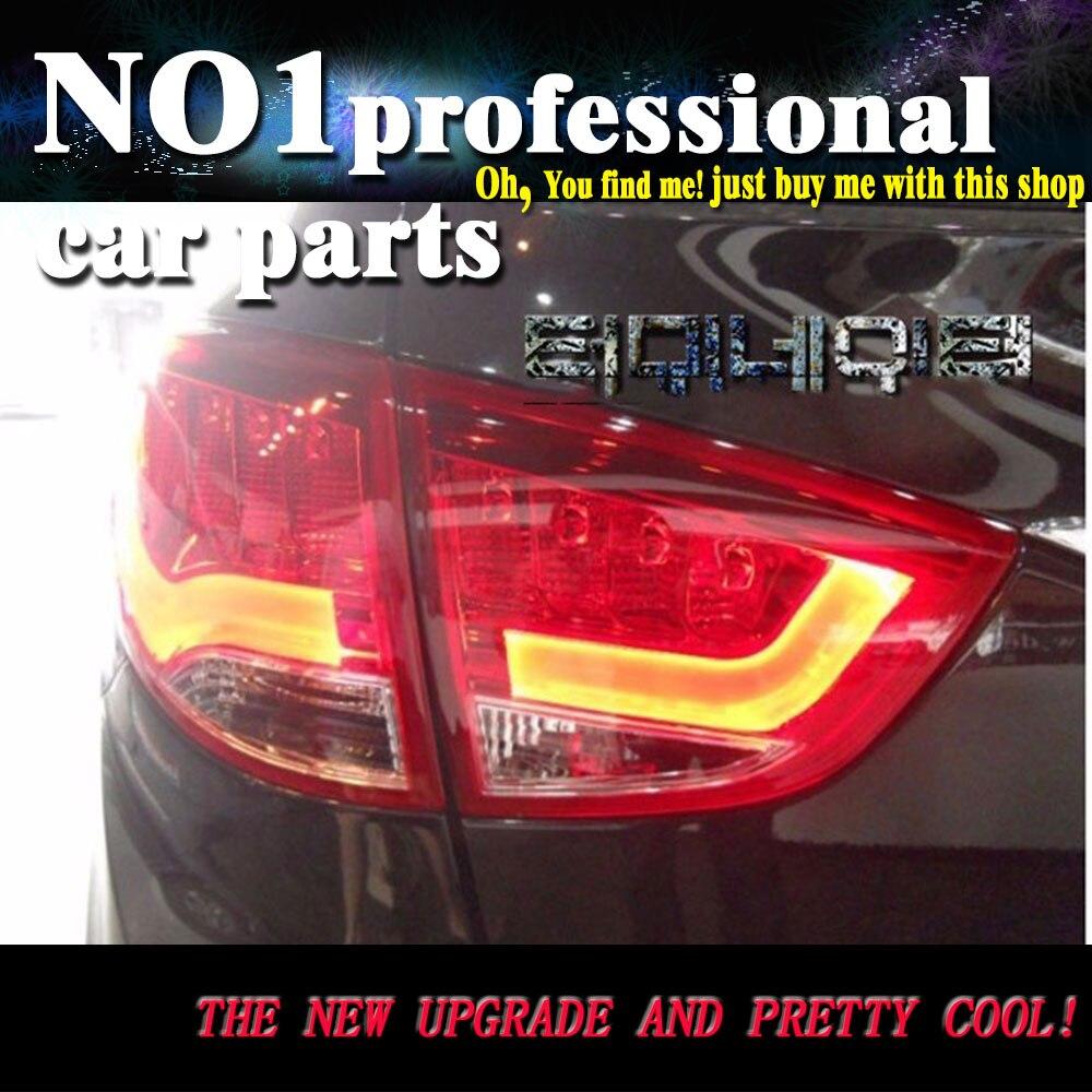Car Taillights For Hyundai ix35 taillight 2010-2013 For Tucson Rear Lamp LED Bar DRL 1 set, 4 Pcs,ix35 back light пороги rival bmw style hyundai ix35 2010 2013 2015 kia sportage 2010 2014 2015 круг 173 см крепеж 2 шт