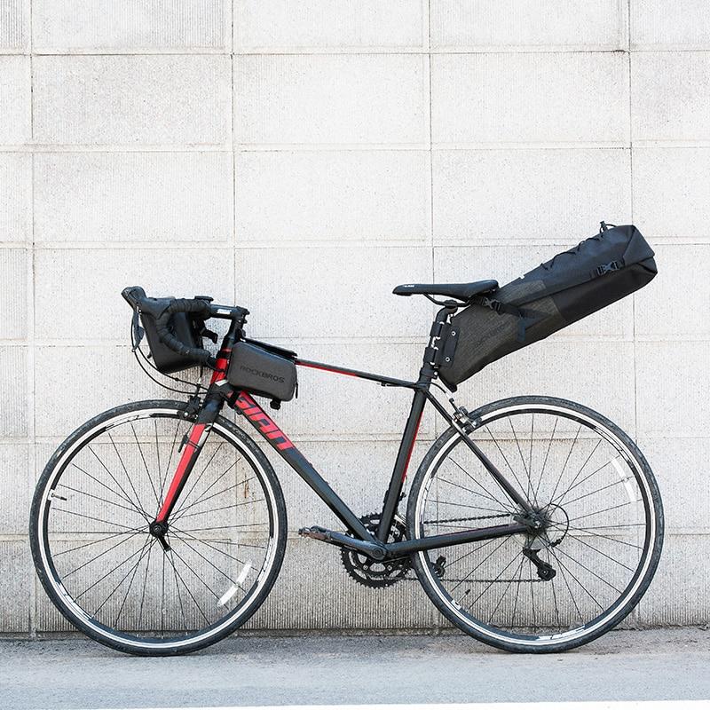 ROCKBROS Bike Bag Waterproof Reflective 10L Large Capacity Saddle Bag Cycling Foldable Tail Rear Bag MTB Road Trunk Bicycle Bag