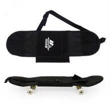 """새로운 블랙 스케이트 보드 운반 가방 4 바퀴 스케이트 보드 가방 31 """"x 8"""" 스케이트 보드 더블 로커 배낭"""