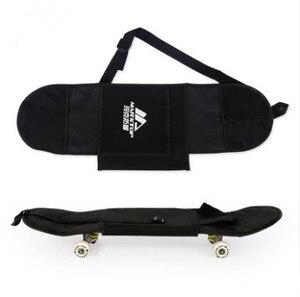 """Image 1 - Nuovo Nero di Skateboard Borsa Per Il Trasporto 4 Ruote di Skateboard Sacchetto di 31 """"x 8"""" di Skateboard Doppio Rocker Zaino"""