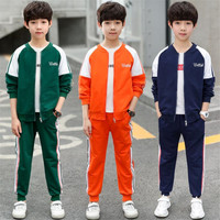 JMFFY 2019 Kids Clothes Sets Spring Toddler Boy Clothes Baby Boys Outfit Long Sleeve Cotton Sport Suit Children Clothing 6 16T