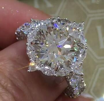 Big AAA Cubic Zirconia Engagement Rings Wholesale 925 Sterling Sliver Crystal Fashion CZ Stone Wedding Jewelry For Women
