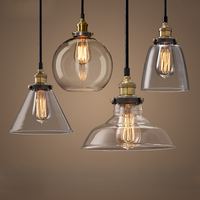 Russia Vintage Glass Pendant Lamp Modern Dinning Room Light Retro Industrial Glass Hang Lamp For Home